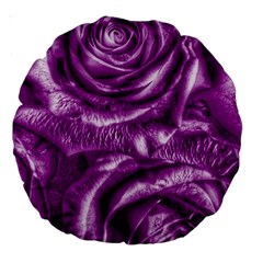 Gorgeous Roses,purple  Large 18  Premium Round Cushions