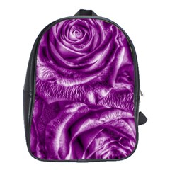 Gorgeous Roses,purple  School Bags (XL)
