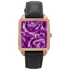 Gorgeous Roses,purple  Rose Gold Watches