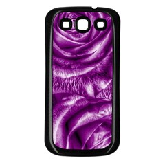 Gorgeous Roses,purple  Samsung Galaxy S3 Back Case (black)