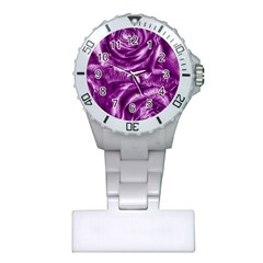 Gorgeous Roses,purple  Nurses Watches