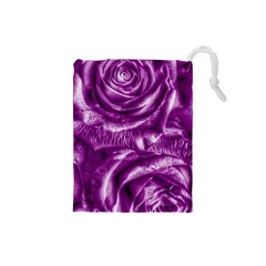 Gorgeous Roses,purple  Drawstring Pouches (small)