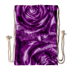 Gorgeous Roses,purple  Drawstring Bag (Large)