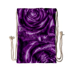 Gorgeous Roses,purple  Drawstring Bag (Small)