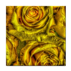 Gorgeous Roses, Yellow  Tile Coasters