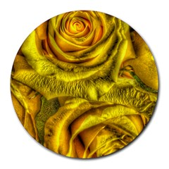 Gorgeous Roses, Yellow  Round Mousepads