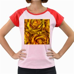 Gorgeous Roses, Yellow  Women s Cap Sleeve T Shirt