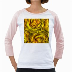 Gorgeous Roses, Yellow  Girly Raglans