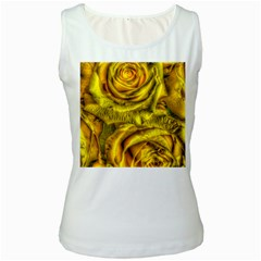 Gorgeous Roses, Yellow  Women s Tank Tops