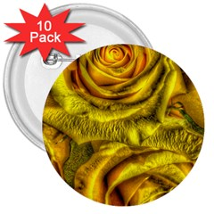 Gorgeous Roses, Yellow  3  Buttons (10 pack)
