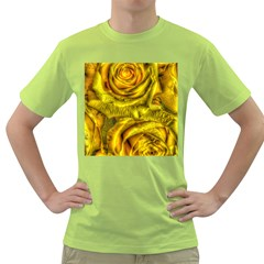 Gorgeous Roses, Yellow  Green T Shirt