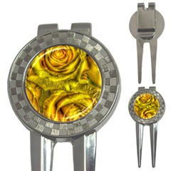 Gorgeous Roses, Yellow  3-in-1 Golf Divots