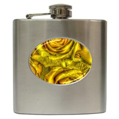 Gorgeous Roses, Yellow  Hip Flask (6 oz)