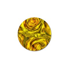 Gorgeous Roses, Yellow  Golf Ball Marker