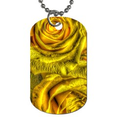Gorgeous Roses, Yellow  Dog Tag (Two Sides)