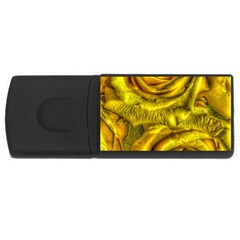 Gorgeous Roses, Yellow  USB Flash Drive Rectangular (2 GB)
