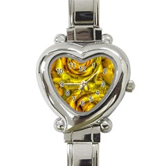 Gorgeous Roses, Yellow  Heart Italian Charm Watch