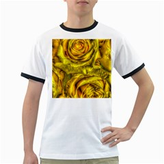 Gorgeous Roses, Yellow  Ringer T-Shirts