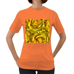 Gorgeous Roses, Yellow  Women s Dark T-Shirt