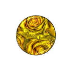Gorgeous Roses, Yellow  Hat Clip Ball Marker (4 pack)