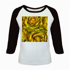 Gorgeous Roses, Yellow  Kids Baseball Jerseys