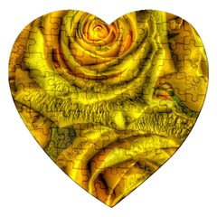 Gorgeous Roses, Yellow  Jigsaw Puzzle (Heart)