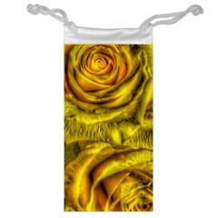 Gorgeous Roses, Yellow  Jewelry Bags