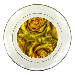 Gorgeous Roses, Yellow  Porcelain Plates