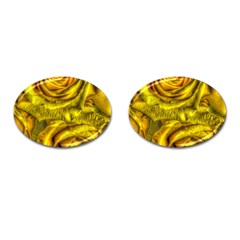 Gorgeous Roses, Yellow  Cufflinks (Oval)
