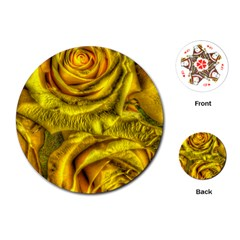 Gorgeous Roses, Yellow  Playing Cards (round)