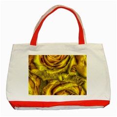 Gorgeous Roses, Yellow  Classic Tote Bag (red)