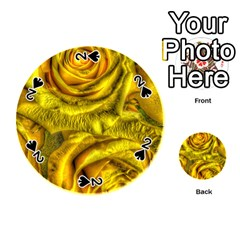 Gorgeous Roses, Yellow  Playing Cards 54 (Round)