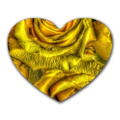Gorgeous Roses, Yellow  Heart Mousepads