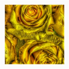 Gorgeous Roses, Yellow  Medium Glasses Cloth (2 Side)