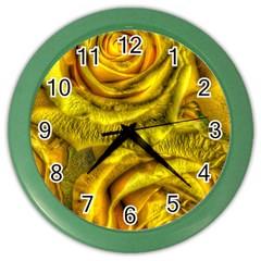 Gorgeous Roses, Yellow  Color Wall Clocks