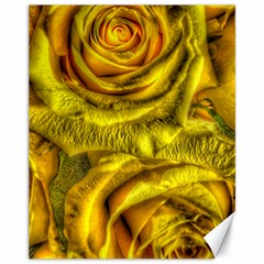 Gorgeous Roses, Yellow  Canvas 11  x 14
