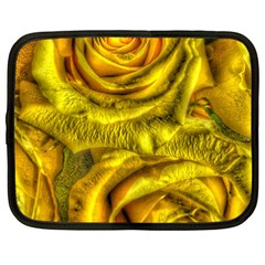 Gorgeous Roses, Yellow  Netbook Case (Large)