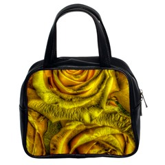 Gorgeous Roses, Yellow  Classic Handbags (2 Sides)