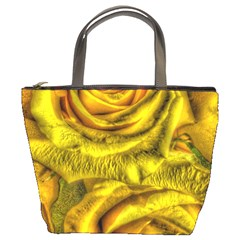 Gorgeous Roses, Yellow  Bucket Bags