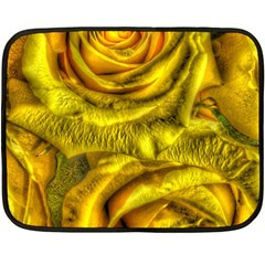 Gorgeous Roses, Yellow  Fleece Blanket (mini)
