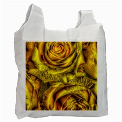 Gorgeous Roses, Yellow  Recycle Bag (One Side)