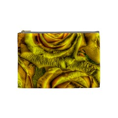 Gorgeous Roses, Yellow  Cosmetic Bag (Medium)
