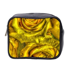 Gorgeous Roses, Yellow  Mini Toiletries Bag 2-Side