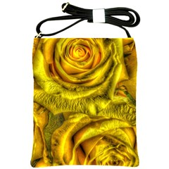 Gorgeous Roses, Yellow  Shoulder Sling Bags