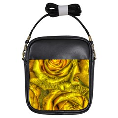 Gorgeous Roses, Yellow  Girls Sling Bags