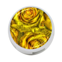 Gorgeous Roses, Yellow  4-Port USB Hub (One Side)