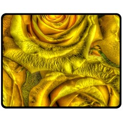 Gorgeous Roses, Yellow  Fleece Blanket (Medium)