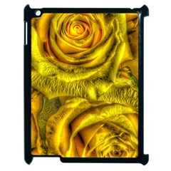 Gorgeous Roses, Yellow  Apple iPad 2 Case (Black)