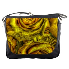 Gorgeous Roses, Yellow  Messenger Bags