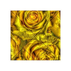 Gorgeous Roses, Yellow  Acrylic Tangram Puzzle (4  x 4 )